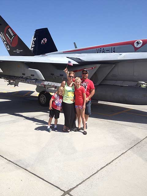 The Avila Family At Navel Air Station Lemoore
